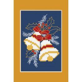 ZUI 4949-02 Zestaw z muliną, koralikami i kartką – Kartka świąteczna
