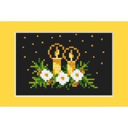 Stickpackung - Weihnachtskarte - Der goldene Schein