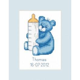ZU 8450 Stickpackung - Geburtskarte - Bärchen