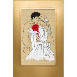 Stickpackung - Hochzeitskarte - Brautpaar