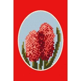 Stickpackung - Gelegenheitskarte - Hyazinthe