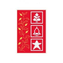 Stickpackung - Weihnachtskarte