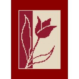 Stickpackung - Geburtstagskarte - Tulpe