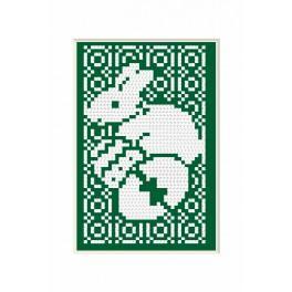 Stickpackung - Osternkarte - Häschen