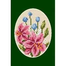 Stickpackung - Gelegenheitskarte - Lilien