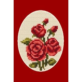 Stickpackung - Gelegenheitskarte - Rosen