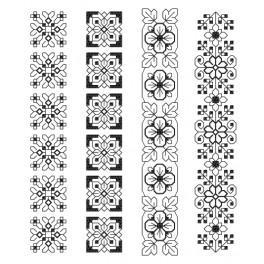 Stickpackung - Lesezeichen - Aufwendige Ornamente I