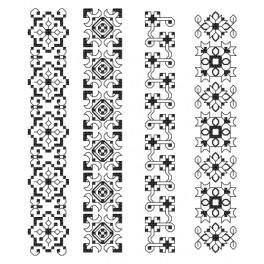Stickpackung - Lesezeichen - Aufwendige Ornamente II