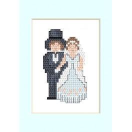 Stickpackung - Hochzeitskarte - Ein junges Paar