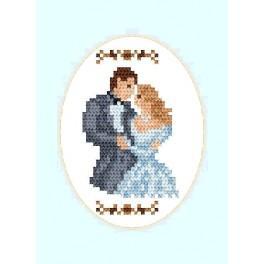 ZU 2000 Stickpackung - Hochzeitskarte - Ein junges Paar