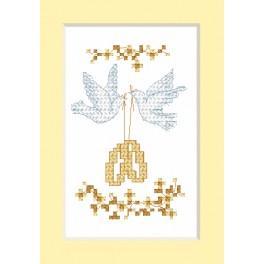 ZU 2103 Stickpackung - Hochzeitskarte - Eheringe