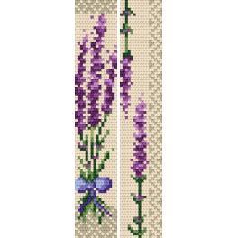 Stickpackung - Lesezeichen - Duftender Lavendel