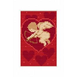 Stickpackung - Karte - Valentinstag - Amor