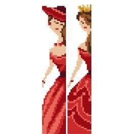 Stickpackung - Lesezeichen - Elegante Frauen