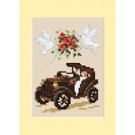 Stickpackung - Hochzeitskarte - Automobil