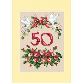 Stickpackung - Karte zum Jahrestag - Rosen