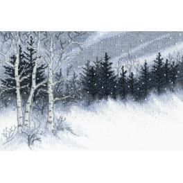 Stickpackung mit Perline - Winternacht