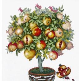 Stickpackung mit Perline - Früchte aus Karthago