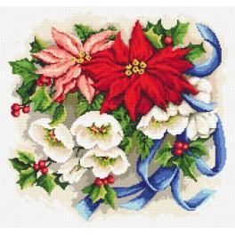 Stickpackung mit Perlen - Weihnachtskomposition