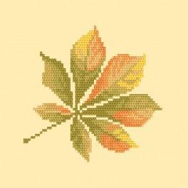 Stickpackung mit Perline - Kastanienblatt