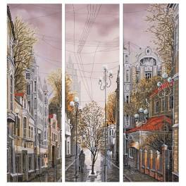 Stickpackung mit Stickgarn und Hintergrund - Nach dem Regen...
