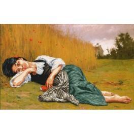 Zestaw z muliną i podmalowanym tłem - Odpoczynek w czasie żniw