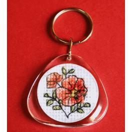 Stickpackung - Schlüsselring - Blumen