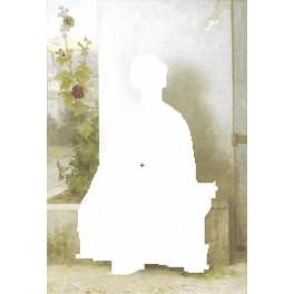 Kleine Wirkerin - Aida Stoff mit Hintergrund