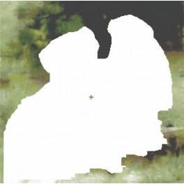 Mädchen mit den Hunden - Aida Stoff mit Hintergrund
