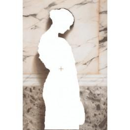 Frau mit Tamburin - Aida Stoff mit Hintergrund