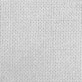 969-02 Lugana Stoff 25 ct weiß