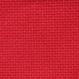 AIDA 54/10cm (14 ct) - Bogen 50x100 cm rot