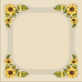 Stickpackung - Tischdecke mit Sonnenblumen