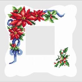 ZU 8218 Stickpackung - Serviette mit Weihnachtsstern