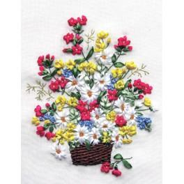 Bändchenset - Blumenstrauß im Korb
