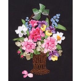 Bändchenset - Korb voller Blumen