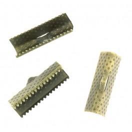 Klemmbleche für Armbänder, bronzefarben 20mm
