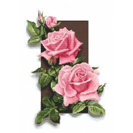 Kanwa z nadrukiem - Róże 3D