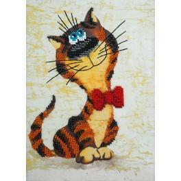 Stickpackungen mit Perlen - Katze Leonhard