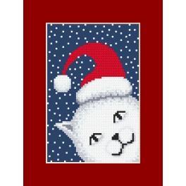 Zählmuster - Karte - Verschmitztes Kätzchen