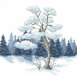 Zahlmuster online - Winterliche Kiefer