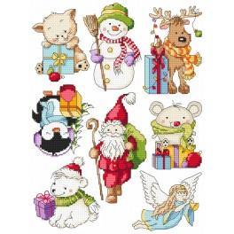 Stickpackung - Kleine Weihnachtsmuster