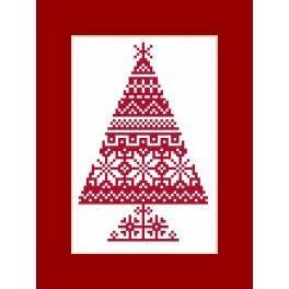 Stickpackung - Karte - Ethnischer Weihnachtsbaum