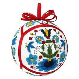 Set mit Stickgarn - Ethnische Weihnachtskugel II