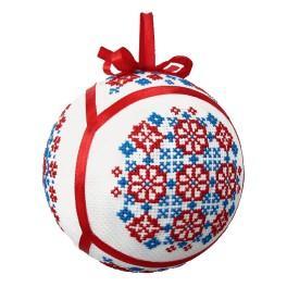 Set mit Stickgarn - Ethnische Weihnachtskugel IV