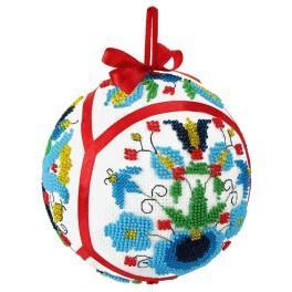 Set mit Perlen - Ethnische Weihnachtskugel II