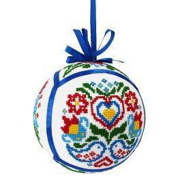 Zahlmuster online - Ethnische Weihnachtskugel III