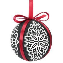 Stickpackung - Weihnachtskugel - Spitzen