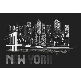 Stickpackung und Korallen - Nacht in New York