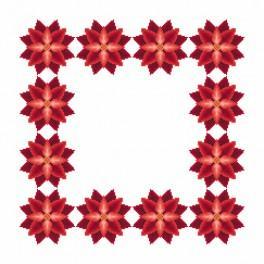 W 8864-01 Zahlmuster online - Serviette - Stilisierter Weihnachtsstern I